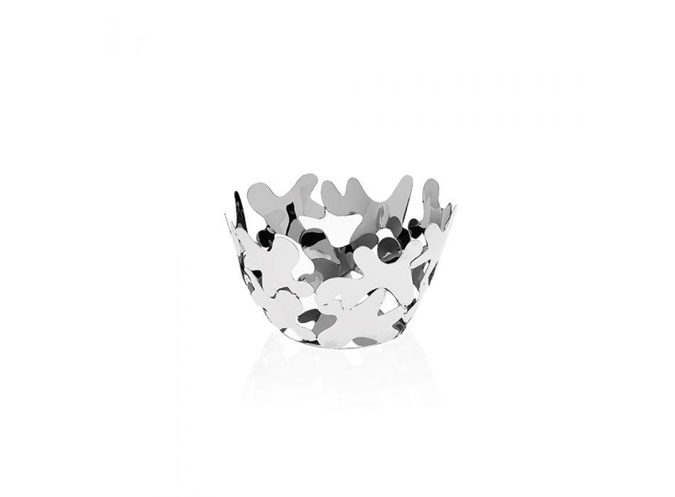 Centrotavola Rotondo Design Contemporaneo Metallo Argentato Decorato - Cordoba