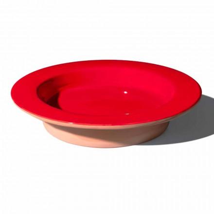 Centrotavola Rotondo in Terracotta e Ceramica Smaltata Made in Italy - Brooke