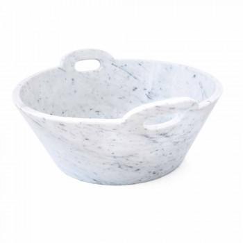 Cestello in Marmo Bianco di Carrara di Design di Lusso Italiano - Tinozzo