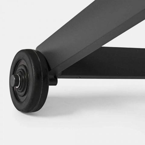 Chaise Longue da Esterno in Alluminio e Textilene con Ruote, 4 Pezzi - Monalisa