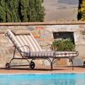 Chaise Longue da Esterno in Ferro e Tessuto Artigianale Made in Italy - Relax