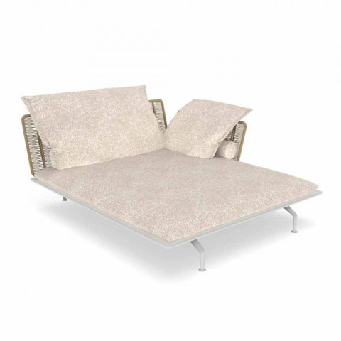 Chaise Longue da Giardino in Alluminio e Tessuto – Cruise Alu by Talenti