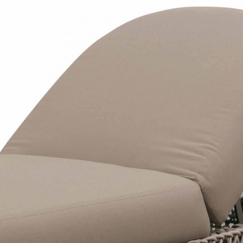 Chaise Longue da Giardino in Gomma con Struttura in Intreccio di Corda - Shuffle