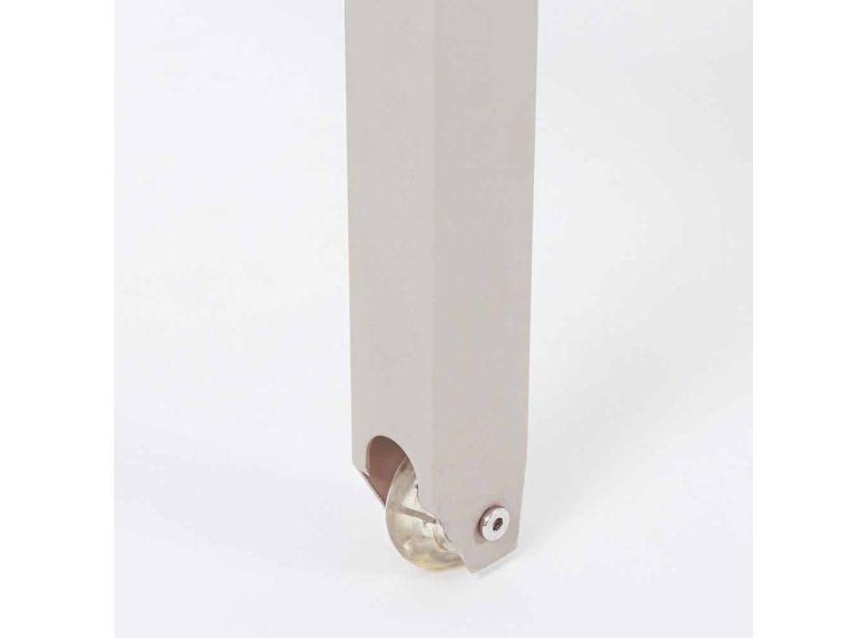 Chaise Longue da Giardino Reclinabile in Alluminio Homemotion, 4 Pezzi - Lester