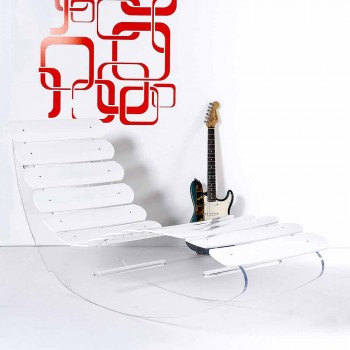 Chaise longue di design in plexiglass trasparente Josue made in Italy