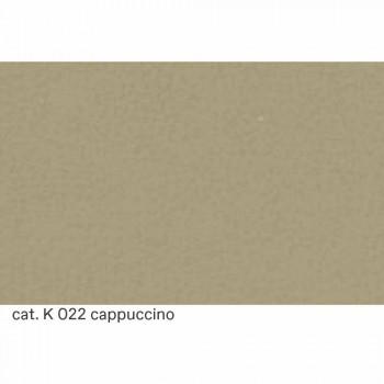 Chaise Longue in Acciaio Cromato con Seduta in Pelle Made in Italy - Diamante
