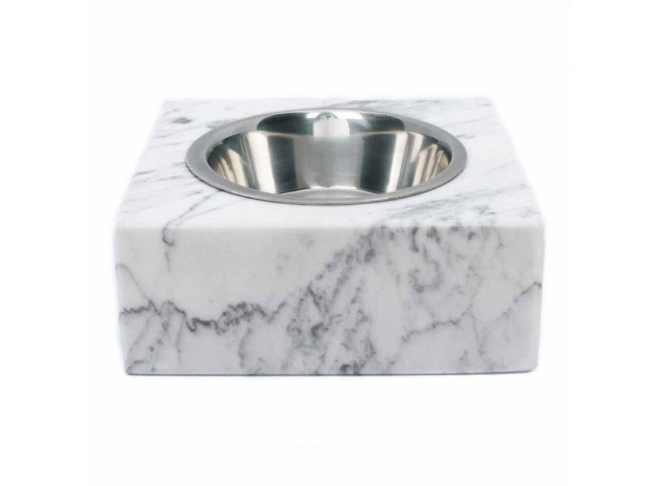 Ciotola Cani e Gatti in Marmo Bianco di Carrara Made in Italy - Ciotta