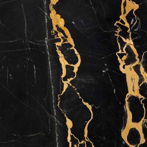 Ciotola Grande Rotonda in Marmo Portoro o Paonazzo Made in Italy - Glazer