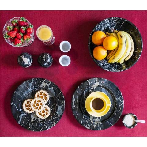 Ciotola Portafrutta in Marmo Portoro, Marquinia o Paonazzo Made in Italy - Fruit