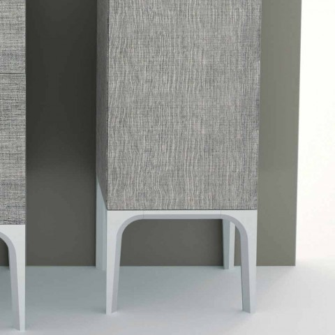 Colonna bagno a 2 ante in ecolegno design moderno Ambra, made in Italy