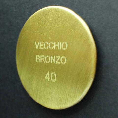 Colonna Doccia Classica in Ottone con Soffione Rotondo Made in Italy - Yari