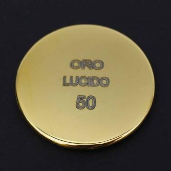 Colonna Doccia in Ottone con Soffione Quadrato in Acciaio Made in Italy - Lipari