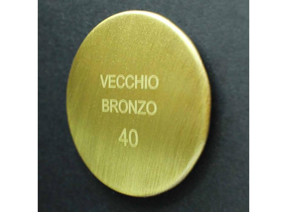 Colonna Doccia in Ottone con Soffione Rotondo e Doccetta Made in Italy - Brillo