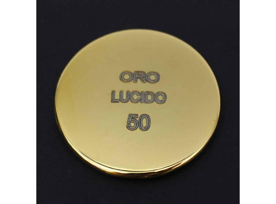 Colonna Doccia in Ottone con Soffione Rotondo in Acciaio Made in Italy - Kennedy
