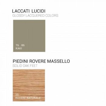 Colonna per bagno 2 ante in legno Ambra, design moderno, made in Italy