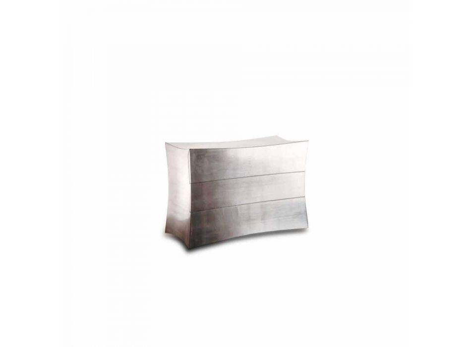 Comò a 3 cassetti in MDF design moderno, made in Italy,Isidoro