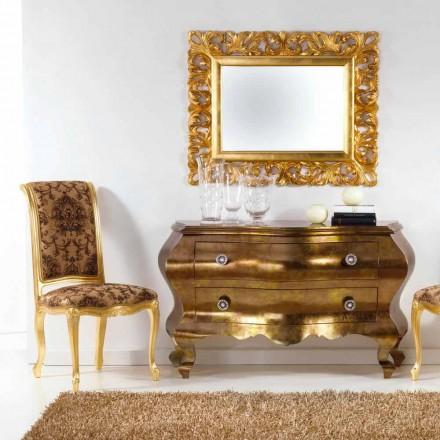 Comò con cassetti design classico realizzato in legno massello Bellini