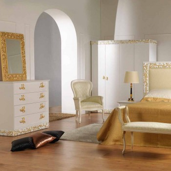 Comò di design a 4 cassetti in legno Kush, fatto in Italia