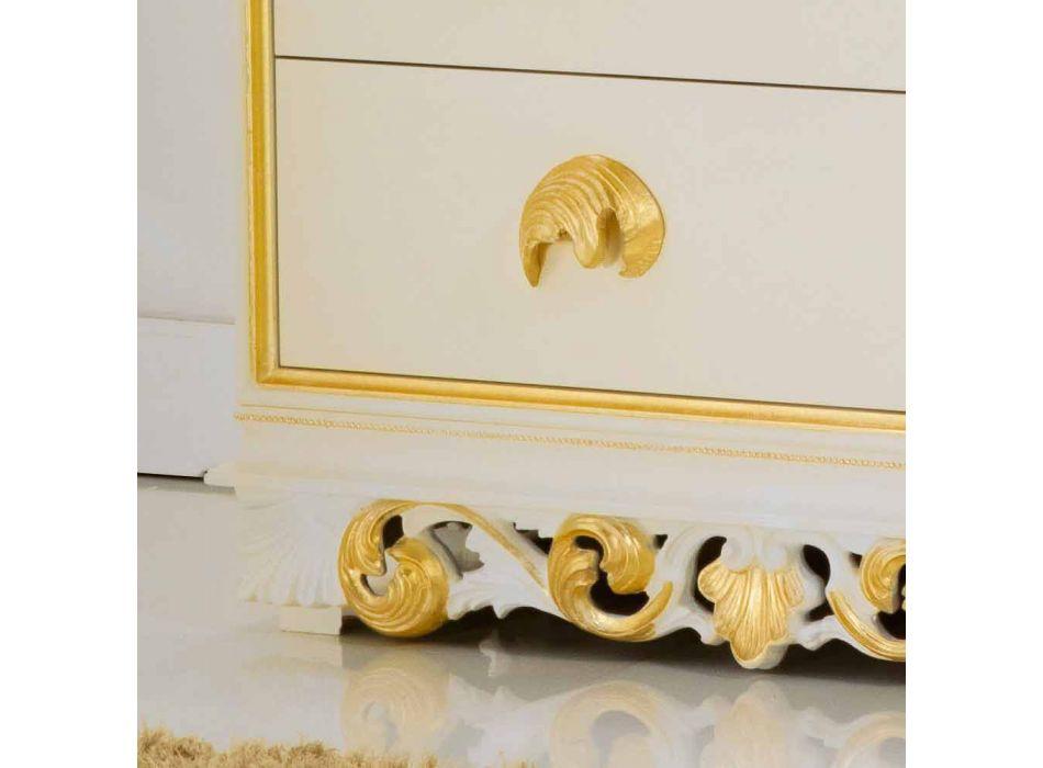 Comò di design in legno con 4 cassetti Zucchi, made in Italy