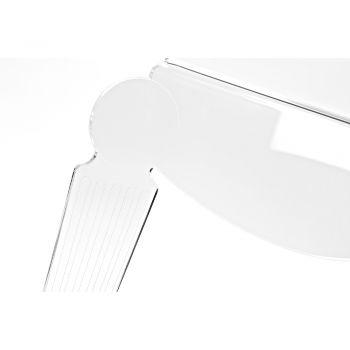Comodino Artigianale in Plexiglass Trasparente Design Classico - Salino