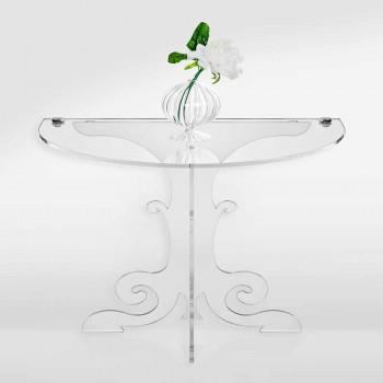 Comodino design classico, in cristallo acrilico e PMMA Tiana