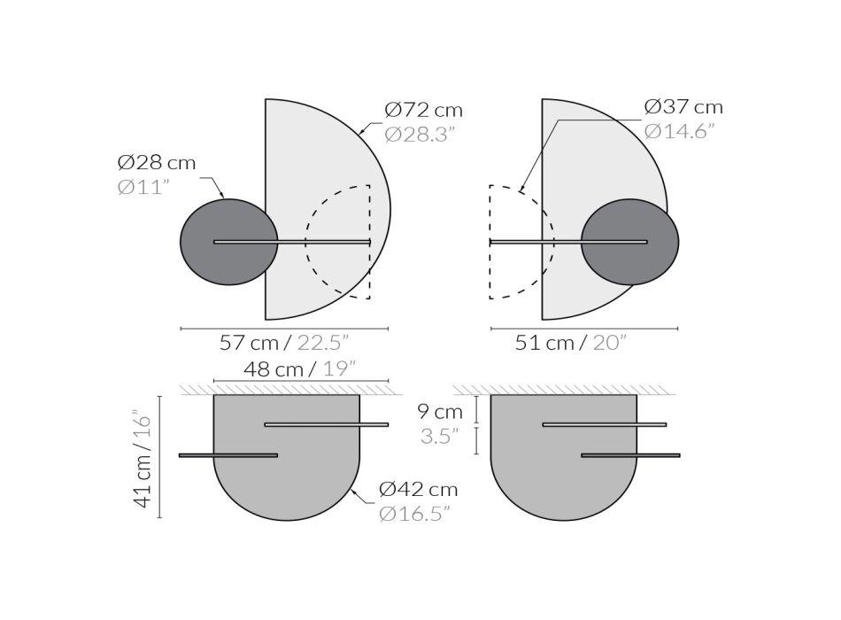 Comodino Moderno Modulare in Multistrato Design Elegante e Versatile - Ramia