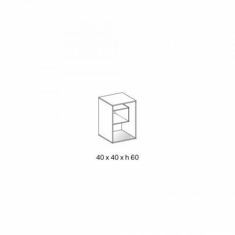 Comodino Tavolino in Vetro Fumè con Cassetto in Cuoio 2 Dimensioni - Linzy