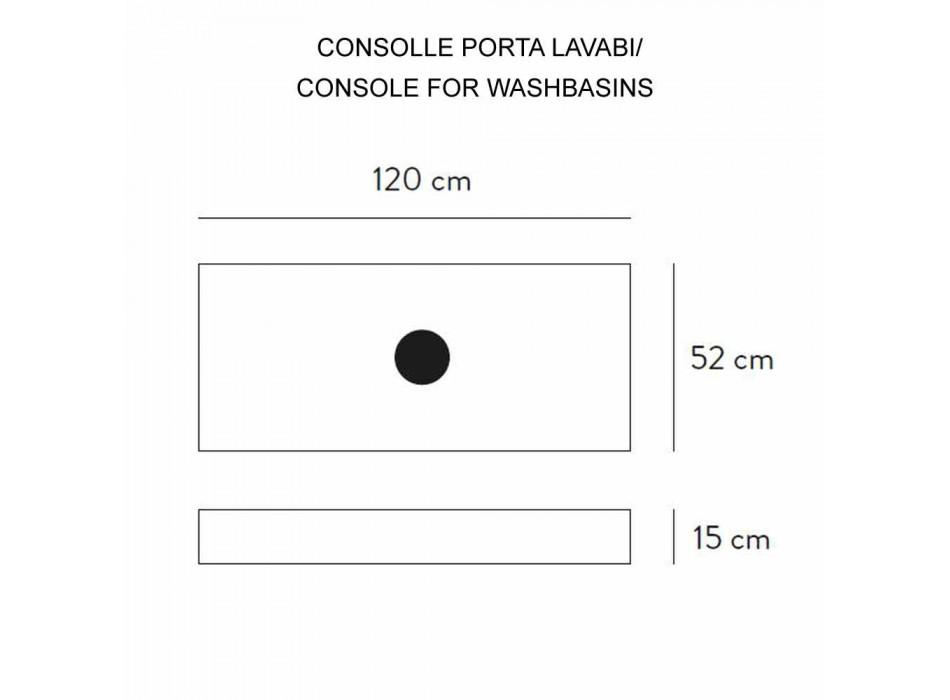 Composizione 3 Mobili Bagno in Gres e Lavabo in Vetrochina 3 Colori - Ramentina