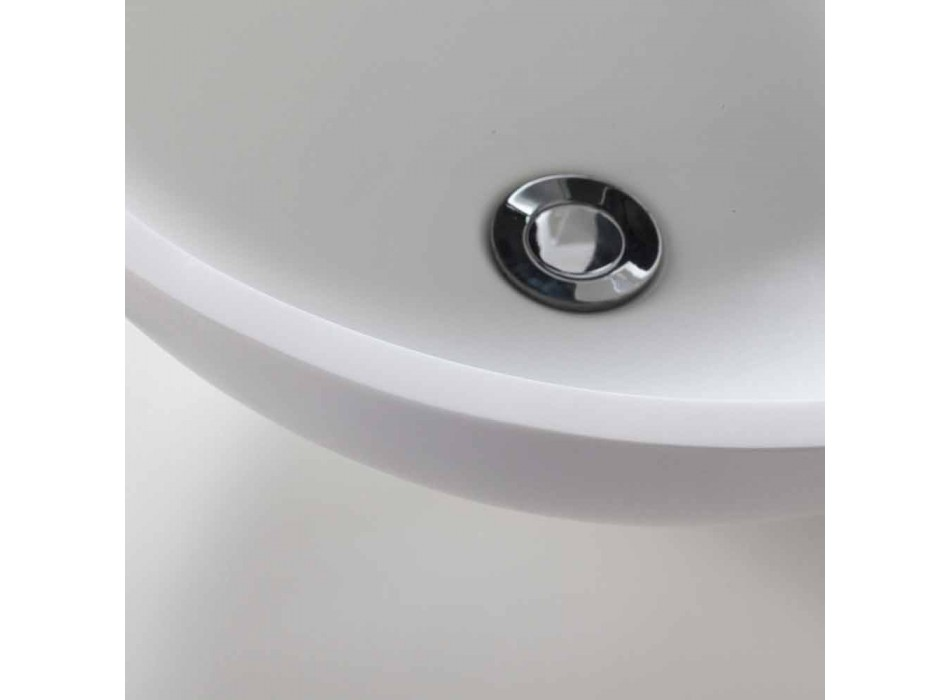 Composizione 3 Mobili Bagno in Legno di Teak con Lavabo in Resina - Essence