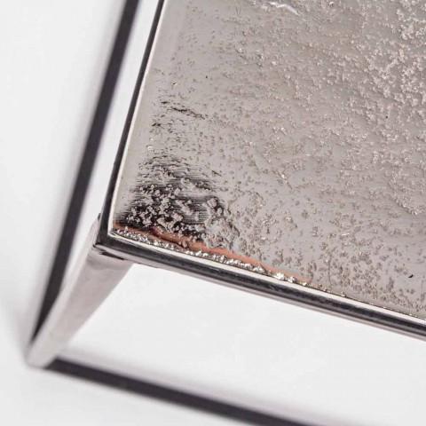 Composizione 3 Tavolini da Salotto in Alluminio e Acciaio Homemotion - Salvio