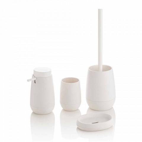 Composizione Accessori da Bagno di Design in Plastica, Gomma e Metallo - Semino