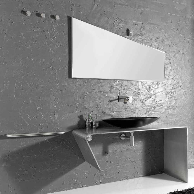 Composizione arredo bagno da appoggio moderna made in Italy Luisa