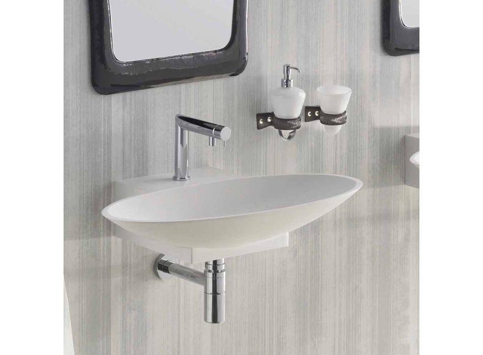 Composizione arredo bagno sospesa di design fatta in Italia Aosta