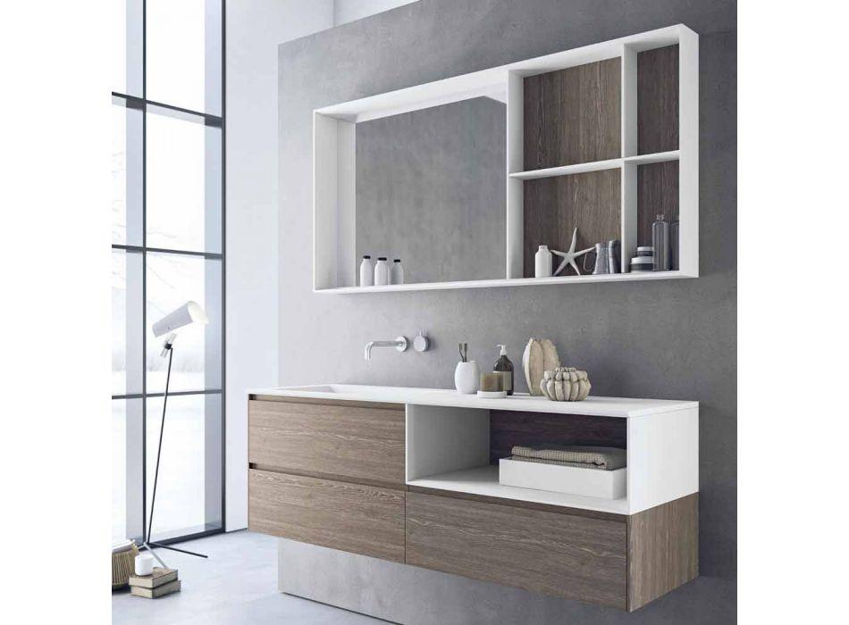Composizione d'Arredo Bagno, Design Moderno e Sospeso Made in Italy - Callisi8