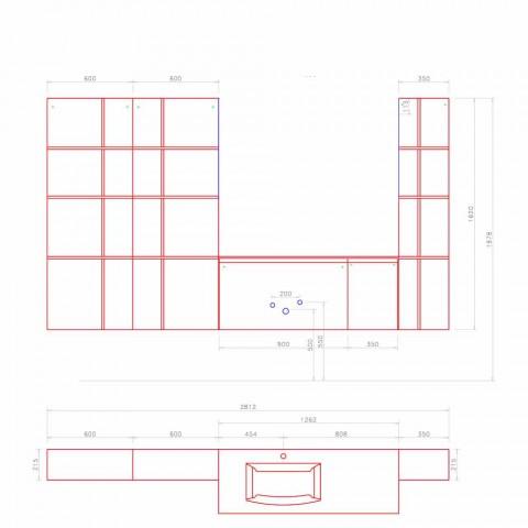 Composizione d'Arredo Bagno Sospesa e Moderna, Mobili di Design - Callisi12