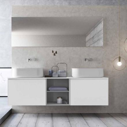 Composizione da Bagno dal Design Moderno a Sospensione Made in Italy - Callisi14