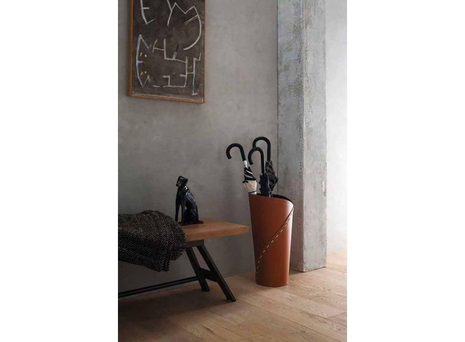 Composizione da Ufficio di Design Moderno in Cuoio Made in Italy – Giulio