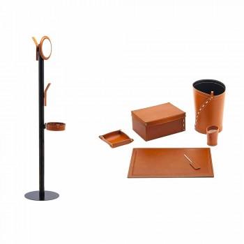 Composizione da Ufficio di Moderno Design in Cuoio Made in Italy – Andrea