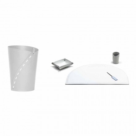 Complementi per Ufficio in Cuoio Rigenerato Moderni Made in Italy – Meduna