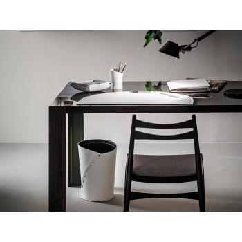 Composizione da Ufficio in Cuoio Rigenerato Moderna Made in Italy – Meduna