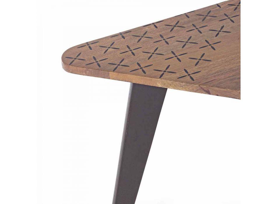 Composizione di 2 Tavolini da Salotto Moderni in Legno Homemotion - Nigola