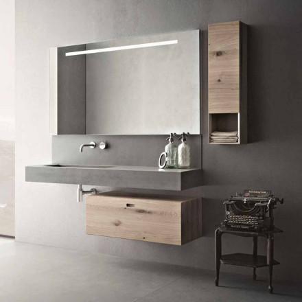 Composizione di Design per Bagno Mobili Moderni Sospesi Made in Italy - Farart2