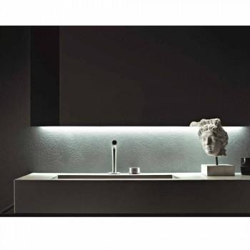 Composizione di Mobili Artigianali per Bagno di Design Moderno a Terra - Farart3