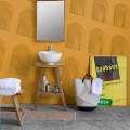 Composizione di Mobili Bagno in Teak Massello di Design Moderno - Azina