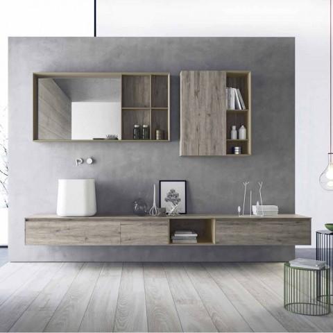Composizione di Mobili Moderni da Bagno, Design Sospeso Made in Italy - Callisi6