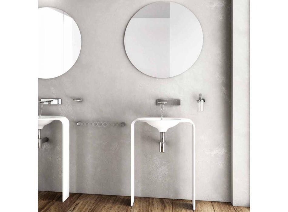 Composizione mobili bagno da terra moderna fatta in Italia Siena