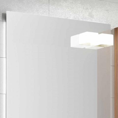 Composizione mobili bagno sospesa di design legno laccato lucido Happy