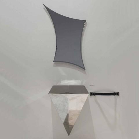 Composizione mobili bagno sospesa moderna prodotta in Italia Venezia