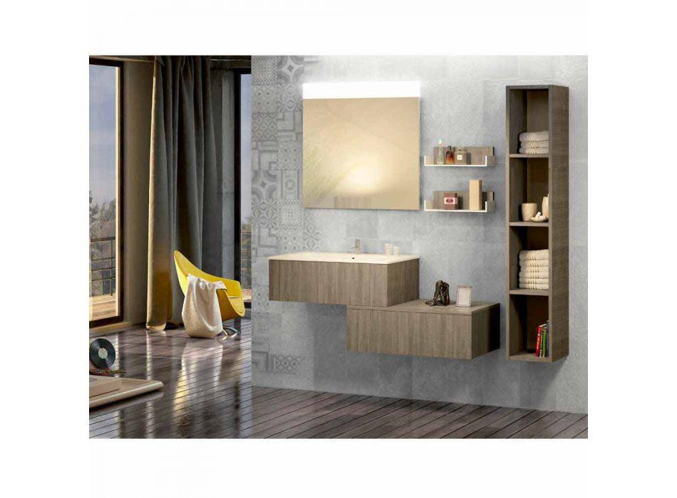 Composizione mobili in legno bagno a sospensione made in Italy Forlì