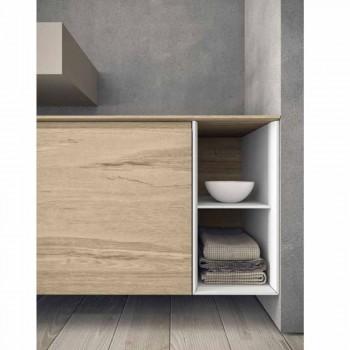Composizione Mobili Moderni e Sospesi da Bagno, Design Made in Italy - Callisi1